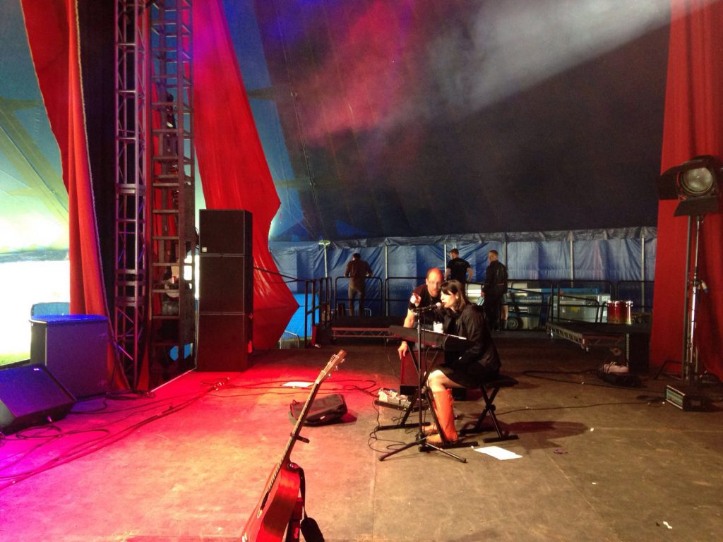 Glastonbury soundcheck